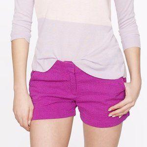 J. Crew Seersucker Shorts in Fuchsia 0 XS Purple